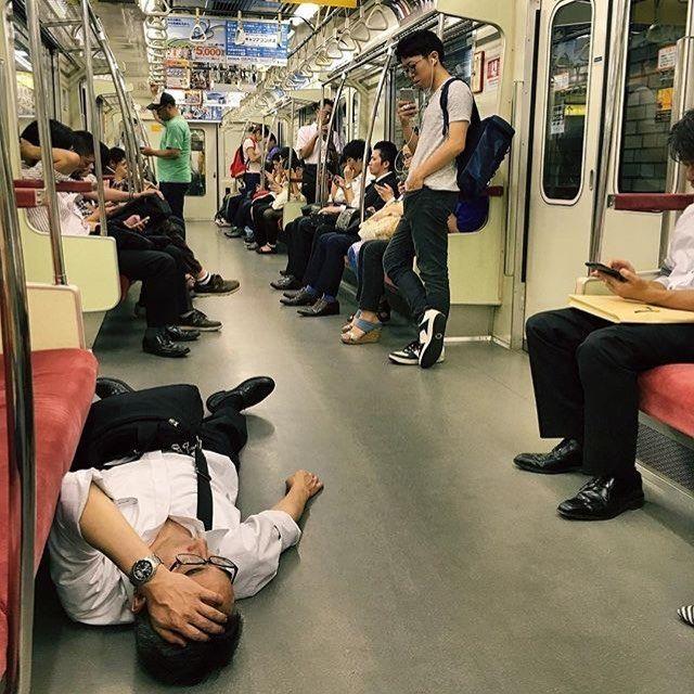 Japanese Sleeping In Public 24