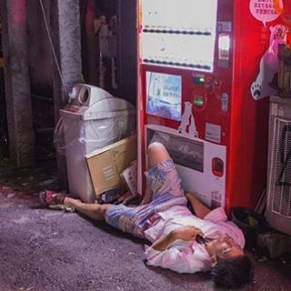 Japanese Sleeping In Public 25