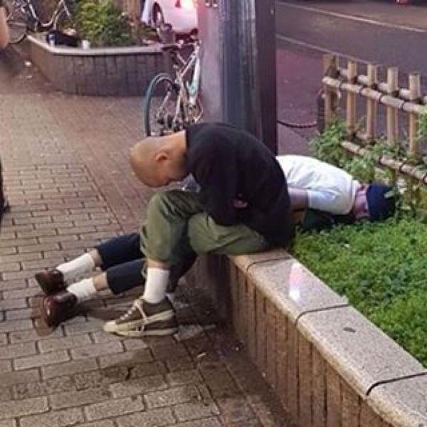 Japanese Sleeping In Public 5