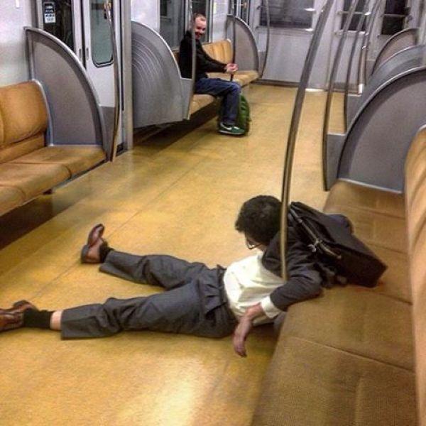 Japanese Sleeping In Public 6