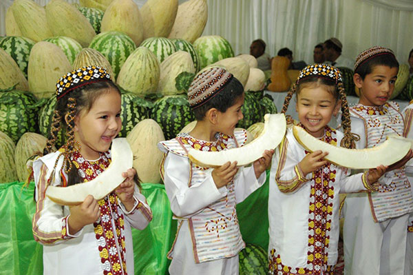 Turkmenistan Melon Day - Children