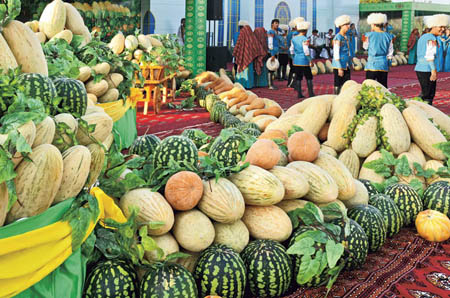 Turkmenistan Melon Day - Display
