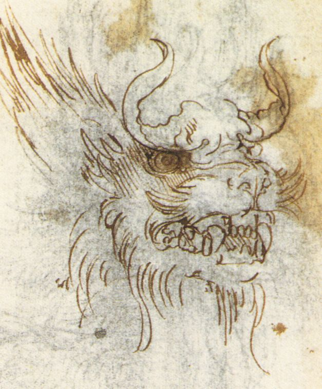 leonardo-da-vinci-sketches-dragon-fight