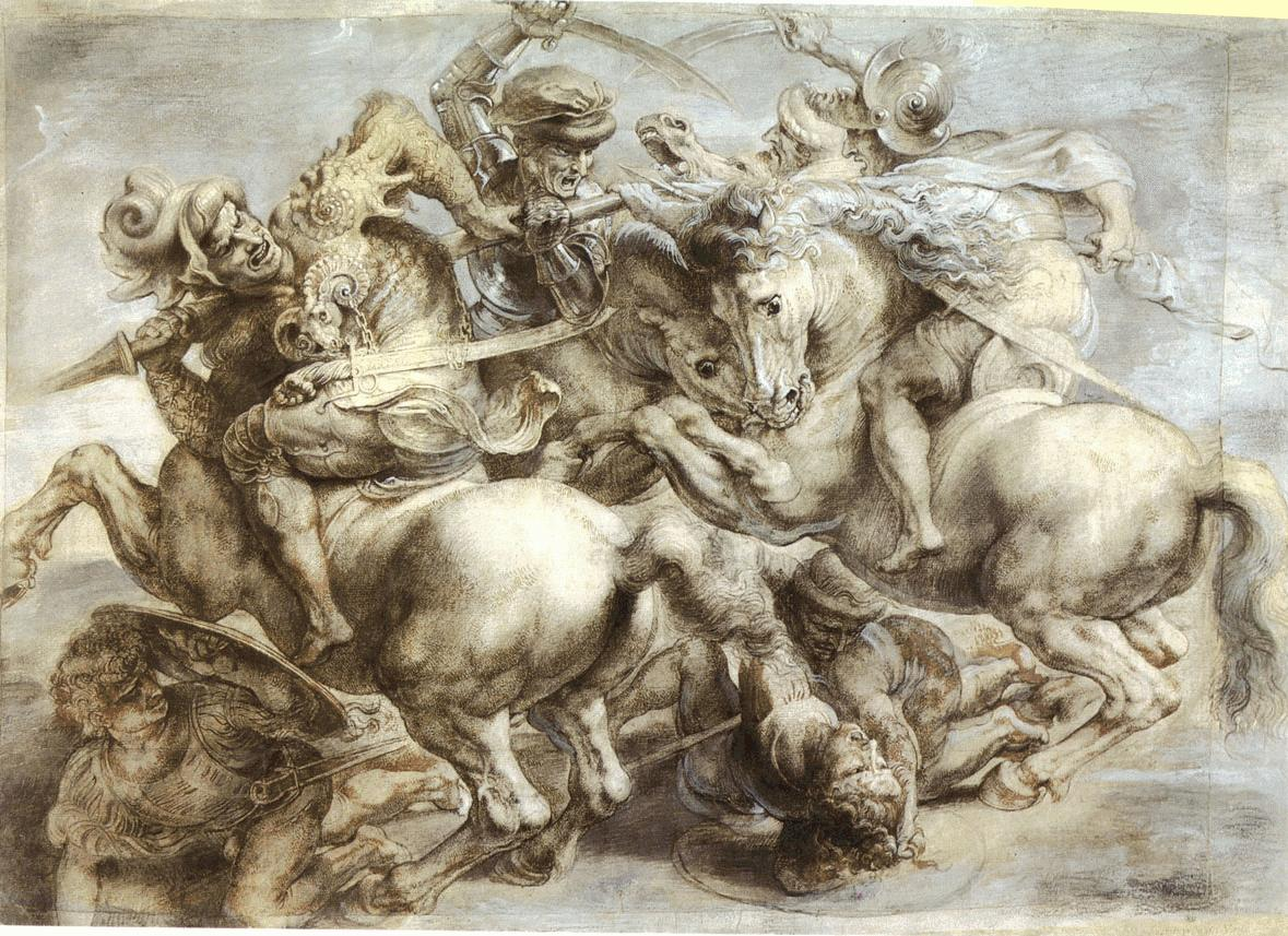 leonardo-da-vinci-sketches-horse-fight