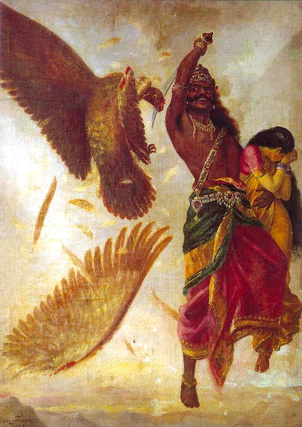 raja-ravi-varma-jatayu-wars-with-ravana