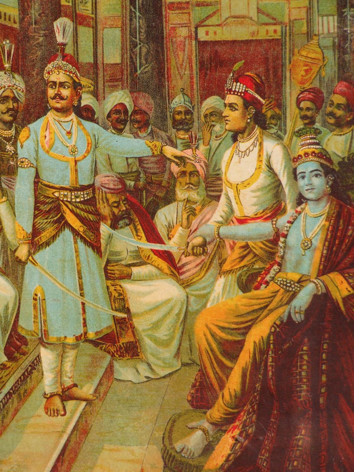 raja-ravi-varma-krishna-as-envoy