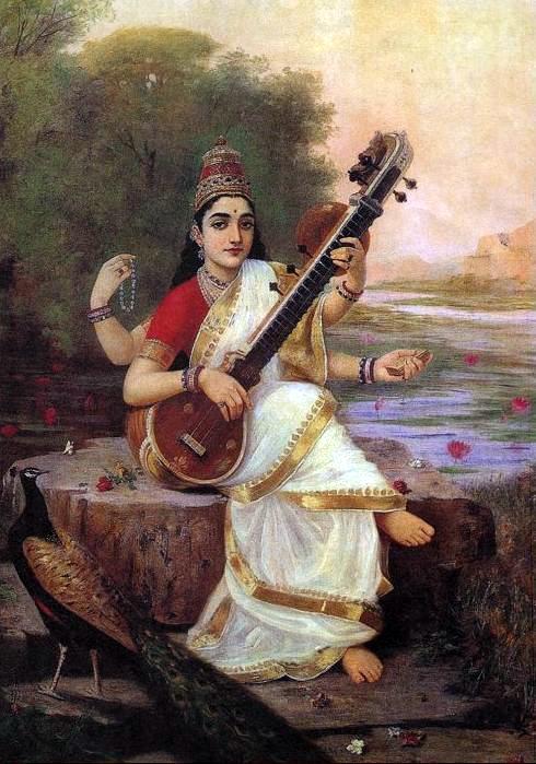 raja-ravi-varma-saraswati