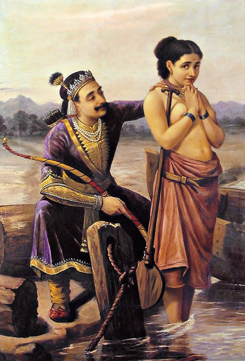 raja-ravi-varma-shantanu-and-satyavati-from-mahabharata
