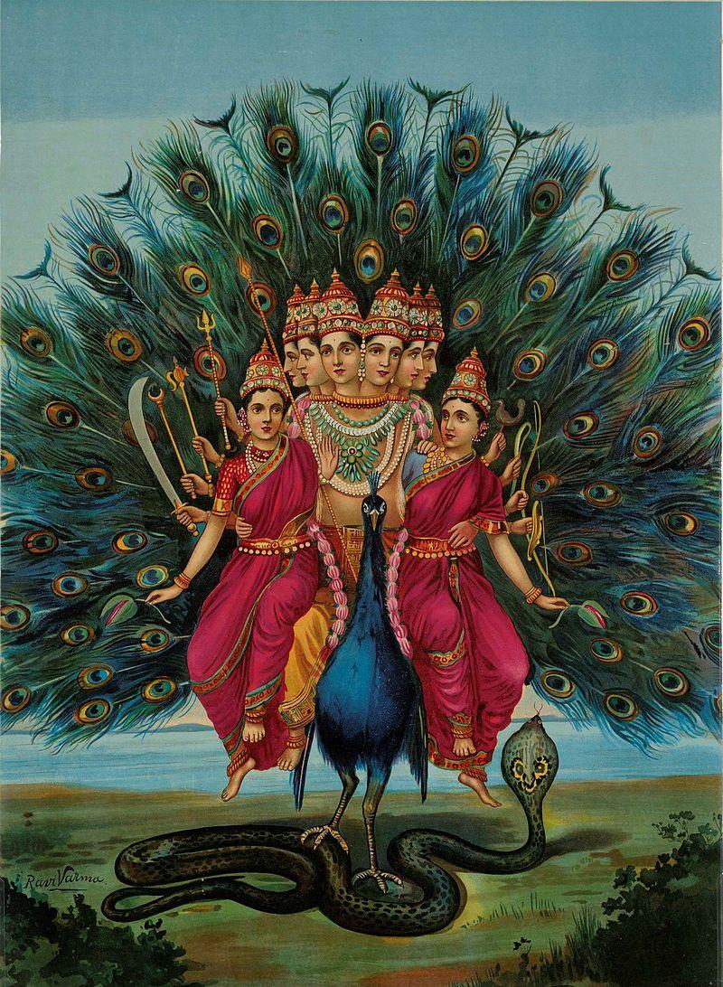 raja-ravi-varma-sri-shanmukha-subramania-swami