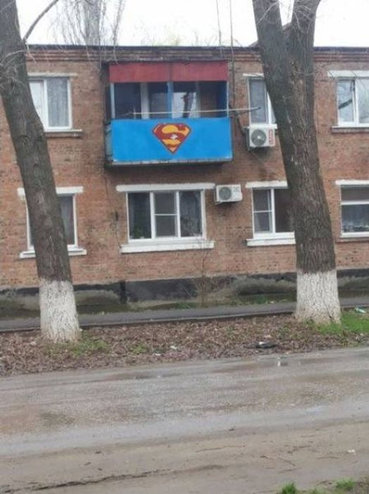 Photos From Russia - Superman Balcony