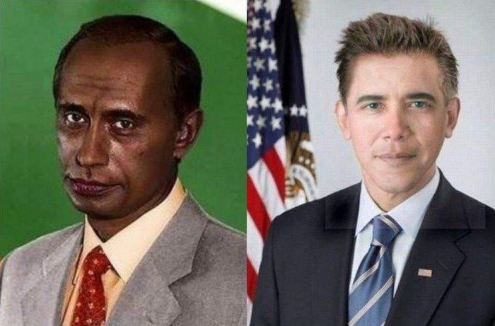 Russia - Switch Races Obama Putin