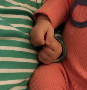 Twins Holding Hands Babies