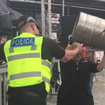 Video: Policeman Joins In With Slipknot Tribute Band + Some Guy Nearly Knocks Himself Out