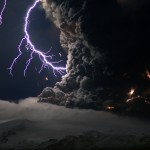 Ice Volcano Lightning - Electric Storm In Volcanic Ash