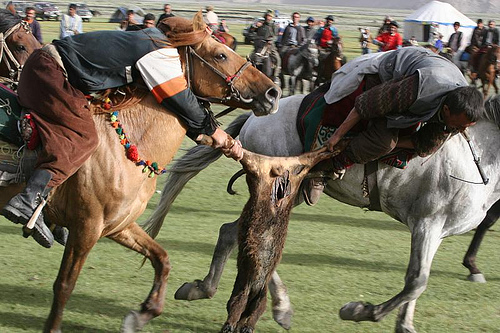 a game of polo with a headless goat essay Whitney azoy notes in his book buzkashi: game and power in afghanistan that the headless carcass of a goat used in buzkashi photo-essay on buzkashi in.