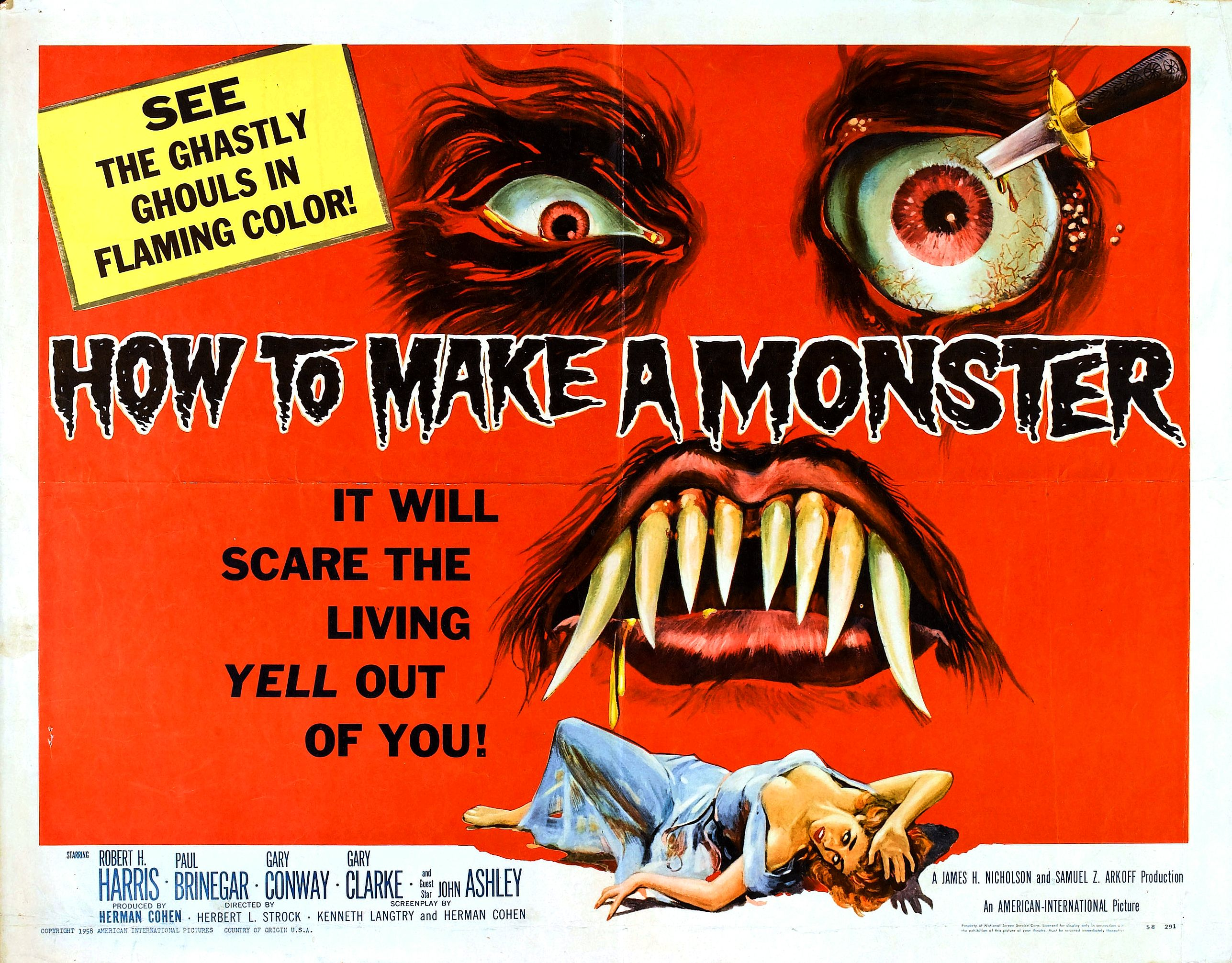 Old Horror Film Posters u0026 Theatrical Trailers Part 1 ...
