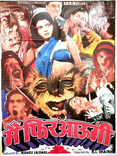 Retro Indian Horror Bollywood Movie Posters