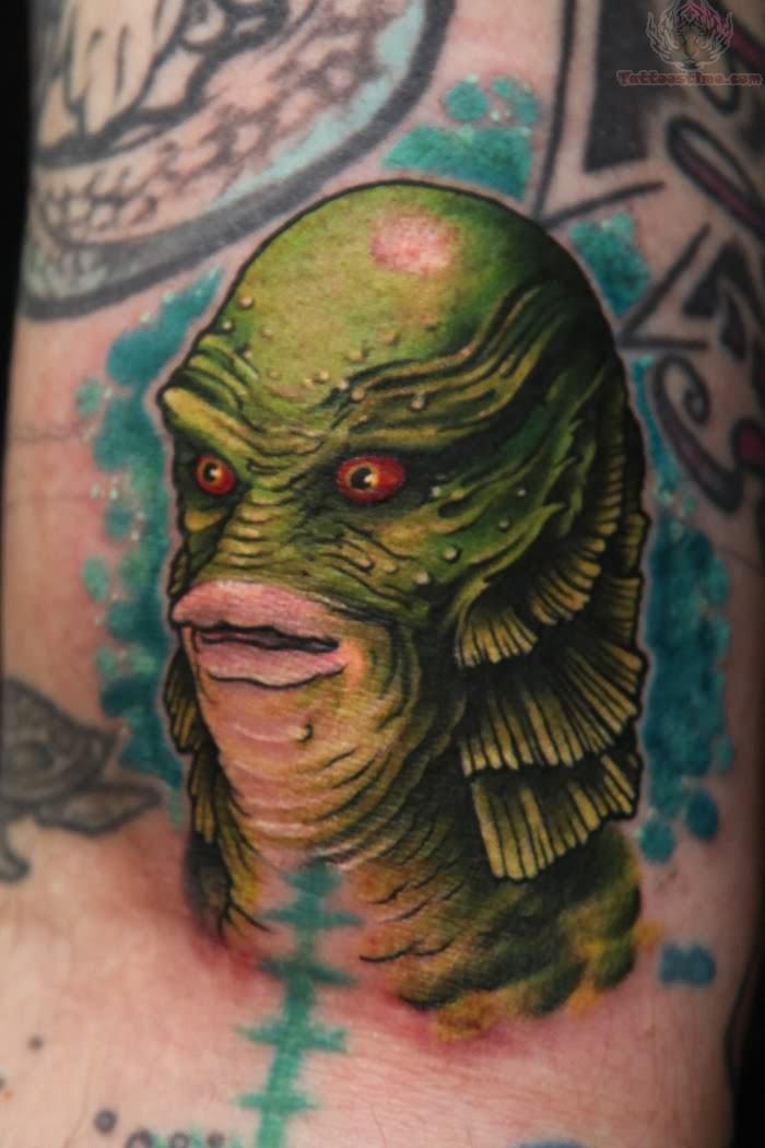 monster tattoos best - fish man