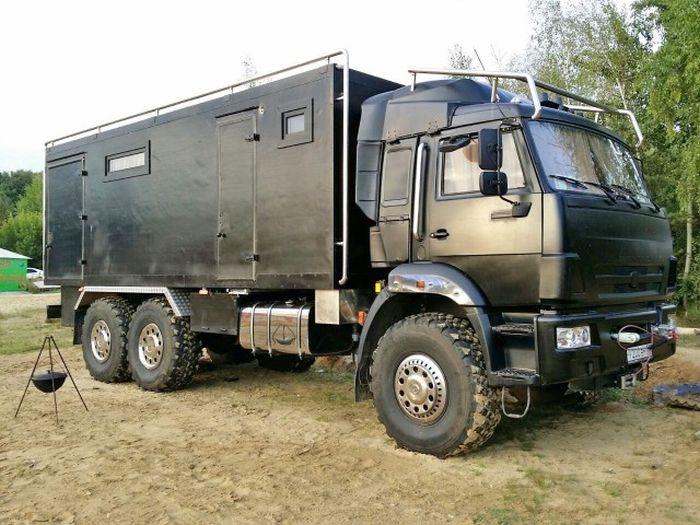Russian Kamaz Truck Turned Into Luxury Palace Lazer Horse