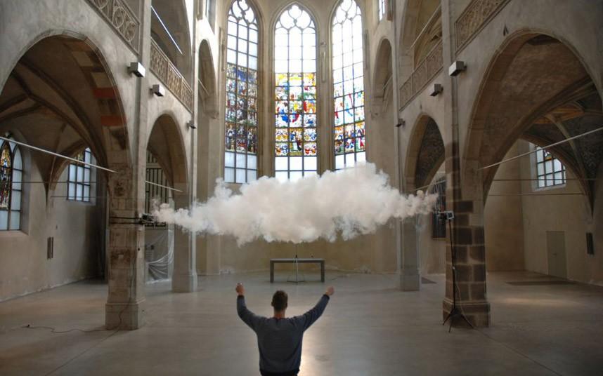 Berndnaut Smilde's Lovely Indoor Micro Clouds • Lazer Horse